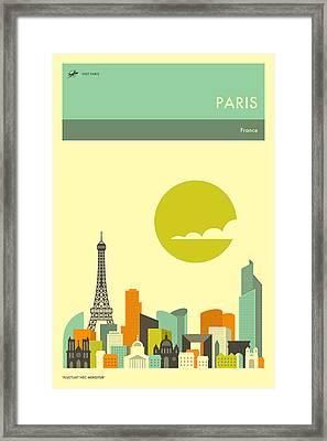 Paris Travel Poster Framed Print