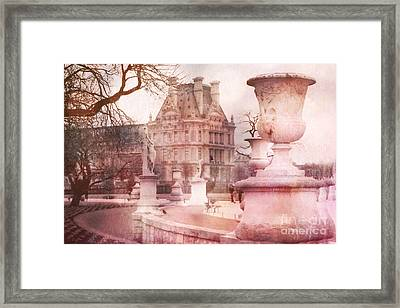 Paris Tuileries Park Garden - Jardin Des Tuileries Garden - Paris Tuileries Louvre Garden Sculpture Framed Print by Kathy Fornal