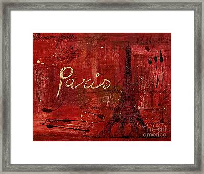 Paris - V01ct1at2cc Framed Print by Variance Collections