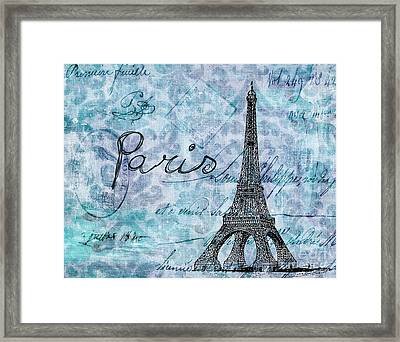 Paris - V01t01a Framed Print by Variance Collections