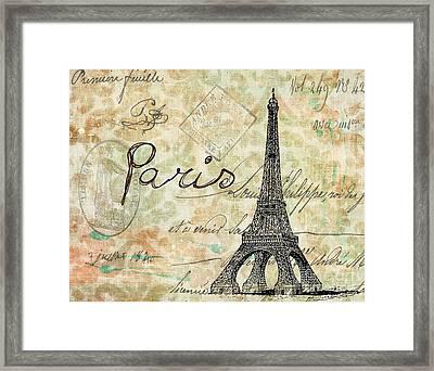 Paris - V07at1 Framed Print