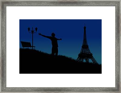 Paris Why Framed Print by Joe Hamilton