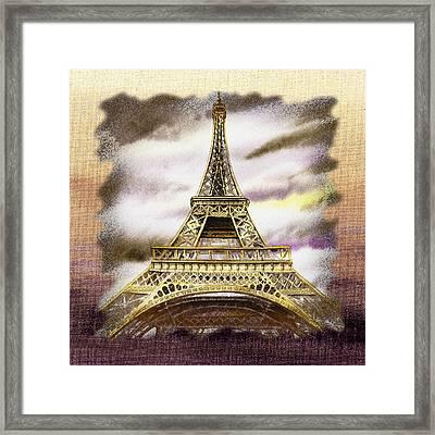 Paris Wind Framed Print by Irina Sztukowski