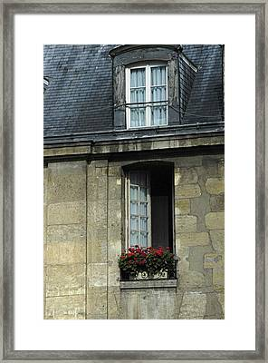 Paris Window Framed Print
