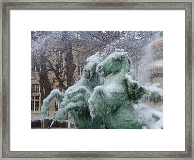 Paris Winter Framed Print