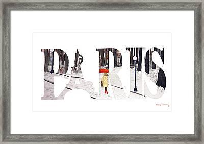 Paris Word Art Framed Print