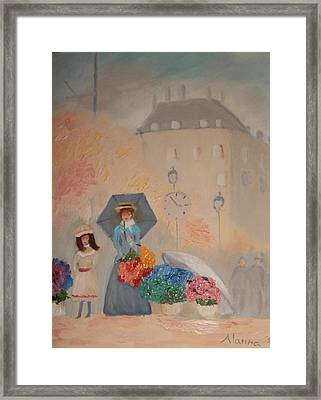 Paris  Yoli By Alanna Framed Print by Alanna Hug-McAnnally