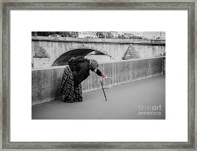 Parisian Beggar Lady Framed Print
