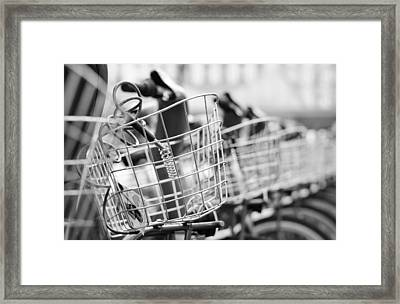 Parisian Bicycle Parking. Framed Print by Pablo Lopez
