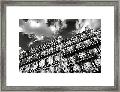Parisian Buildings Framed Print by Olivier Le Queinec