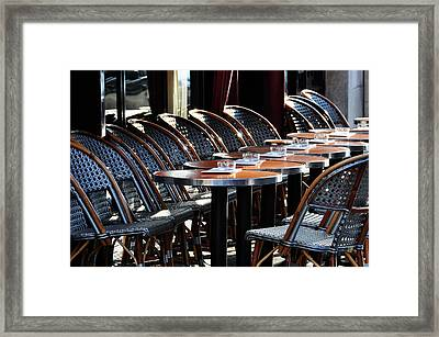 Parisian Cafe Terrace Framed Print