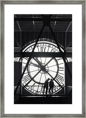 Parisian Clock Framed Print by Andrea Simon