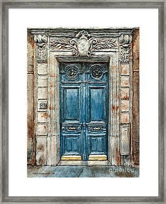 Parisian Door No. 3 Framed Print