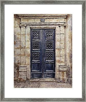 Parisian Door No.40 Framed Print