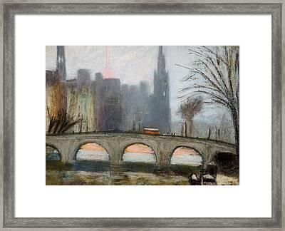 Framed Print featuring the painting Parisian Gray by Gary Coleman