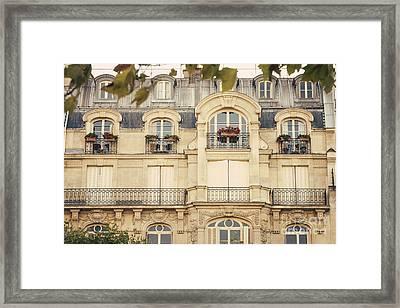 Parisian Home Framed Print by Juli Scalzi