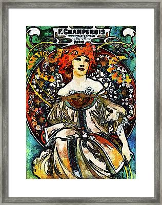 Parisian Lady Van Gogh Style Expressionism Framed Print