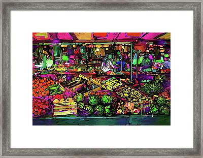 Parisian Market Framed Print