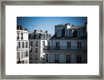 Parisian Rooftops In The Morning Framed Print