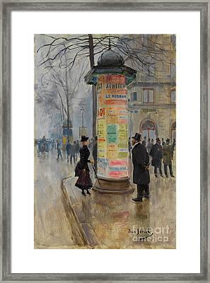 Parisian Street Scene Framed Print by John Stephens