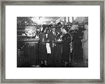 Parisian Waiters Strike Framed Print by Underwood & Underwood