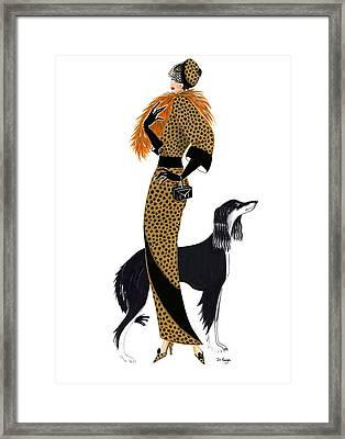 Parisien Chic - Monique And Sally Framed Print by Di Kaye