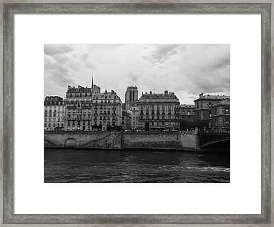 Paris Suburbs On The Seine Framed Print by Marty Cobcroft