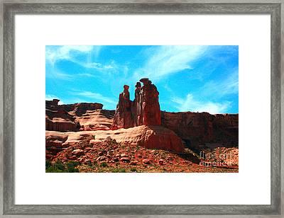 Park Avenue Fantastic Rock Formations Framed Print