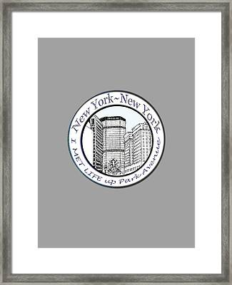 I Met Life Up Park Avenue Nyc Framed Print
