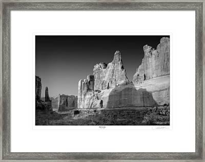 Park Avenue Utah Framed Print by Lar Matre