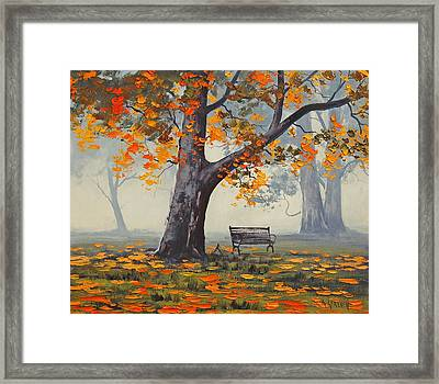 Park Bech Framed Print by Graham Gercken