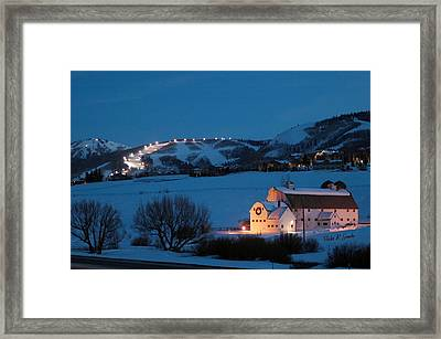 Park City Mcpolin Barn Framed Print by Vicki Gaebe