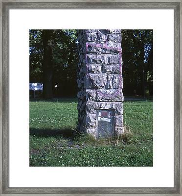 Park Column Framed Print
