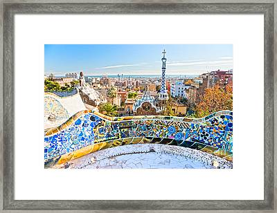 Framed Print featuring the photograph Park Guell Barcelona by Luciano Mortula