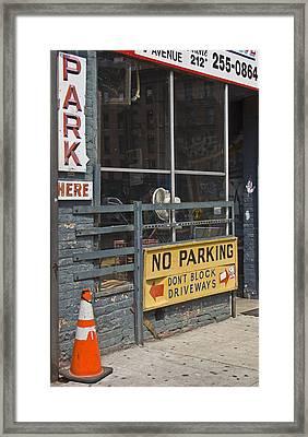Park Here Framed Print by Art Ferrier