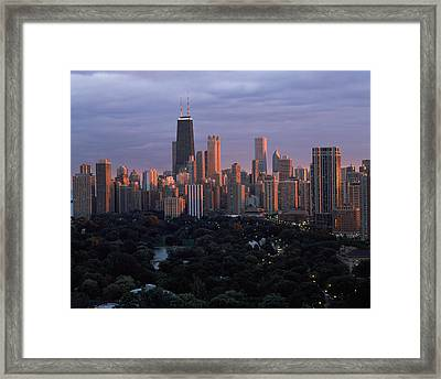 Park In A City, Lincoln Park, Chicago Framed Print