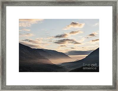Park Of Abruzzo At Sunrise Framed Print