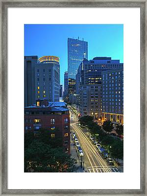 Framed Print featuring the photograph Park Plaza Hotel Boston by Juergen Roth