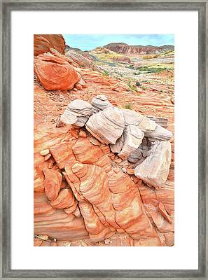 Framed Print featuring the photograph Park Road Sandstone In Valley Of Fire by Ray Mathis