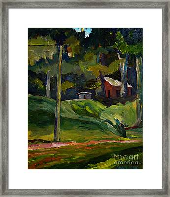 Park Shadows And Lights Framed Print by Charlie Spear