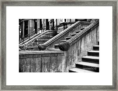 Park Slope Stairs Framed Print by John Rizzuto