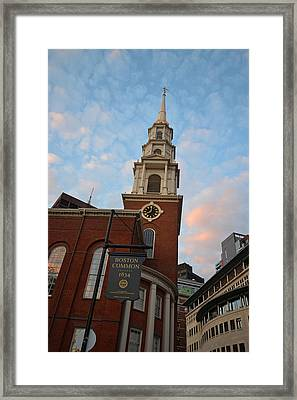 Park Street Church Boston Common Framed Print