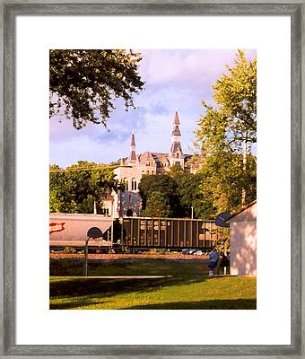 Framed Print featuring the photograph Park University by Steve Karol