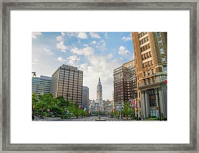 Park Way View Of City Hall - Philadelphia Framed Print