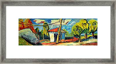 Park Works And Golf Course Framed Print by Charlie Spear