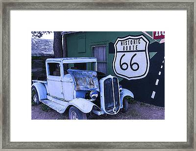 Parked Blue Truck Framed Print