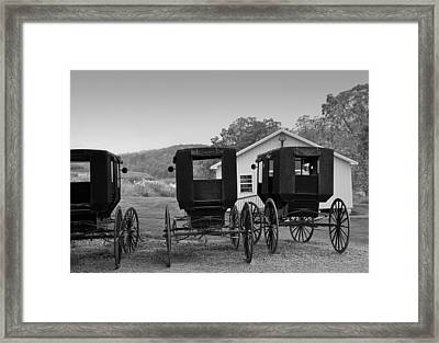 Parked Buggies Framed Print by Fred Lassmann