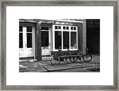 Parked In Hamburg Mono Framed Print