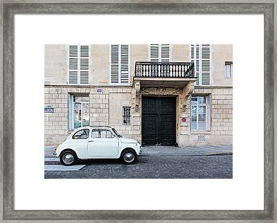 Framed Print featuring the photograph Parked In Paris by Melanie Alexandra Price