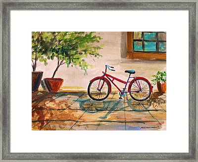 Parked In The Courtyard Framed Print